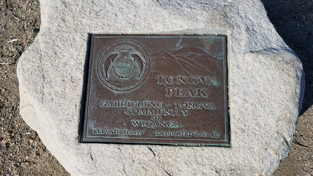Tongva Peak Gabrielino~Tongva Community of Wiqanga Elevation 2656' Dedicated 2003 AD