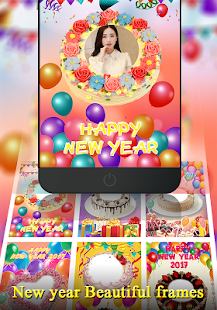 Happy New Year Photo on Cake- screenshot thumbnail