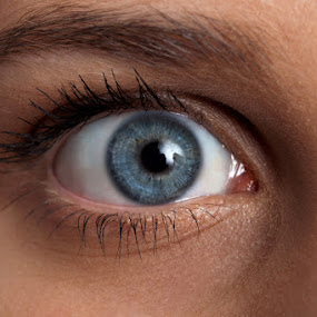 Blue eye by Miranda Legović - People Body Parts (  )