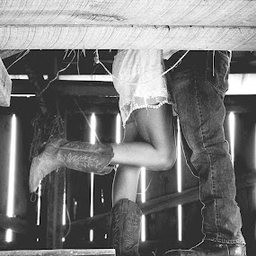 don't tell anyone by Autumn Horton - People Couples ( cowboy, wood, jeans, cowgirl, young, people, country, couples, kentucky, love, barn, couple, boots )