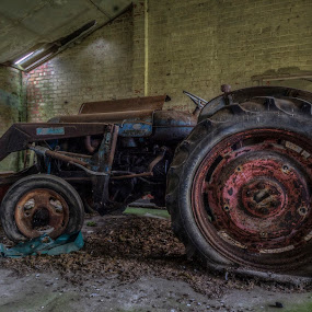 No Ploughing Today by Corin Spinks - Transportation Other ( flat tyre, derelict, disused, tractor, abandoned,  )
