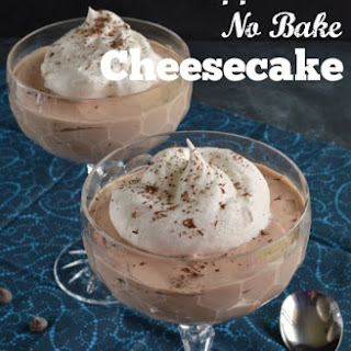Chocolate Peppermint No Bake Cheesecake - Low Carb