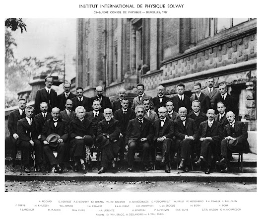 The 5th Solvay International Physics Council on electrons and photons (1927) was probably one of the most important meetings in the history of physics. It was here that the new theory of quantum physics took off (Photographer: Benjamin Couprié)