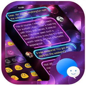 Neon Night Messages Theme