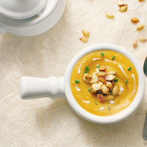 Roasted Acorn Squash and Apple Soup