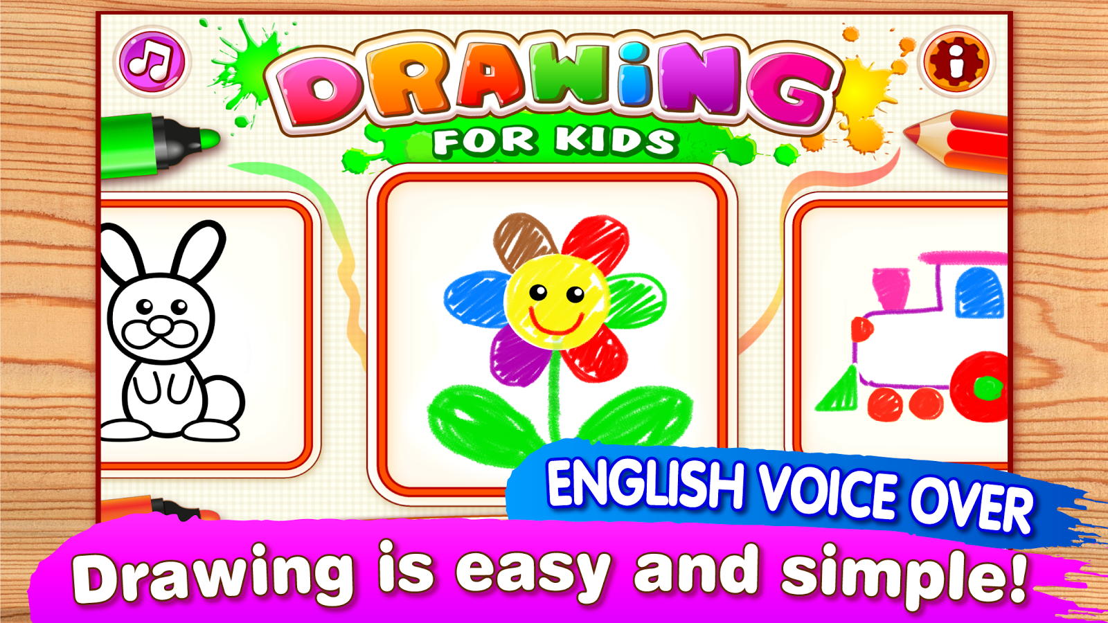 Drawing for Kids and Toddlers. Screenshot 0