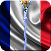 France Flag Zipper Lock App APK for Bluestacks