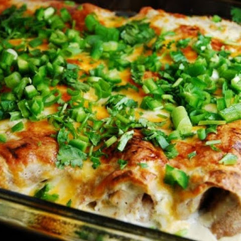 White Chicken and Cheese Enchilada Casserole
