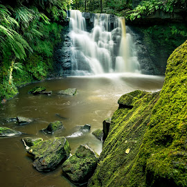 Goit Waterfall by Darrell Evans - Landscapes Waterscapes ( water, stream, nature, yorkshire, outdoor, waterfall, flow, landscape, rivulet, goit stock, river )