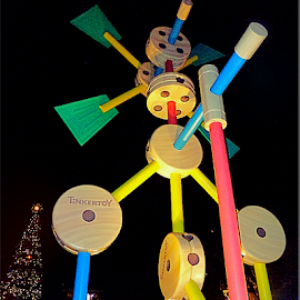 Outdoor Disney Tinkertoy Structure by Cheryl Beaudoin - Buildings & Architecture Statues & Monuments ( tinkertoy, building, structure, outdoor, monument, architecture, disney )