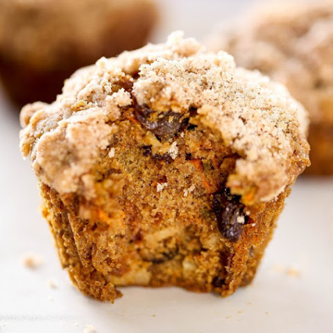 Morning Glory Muffins with Streusel