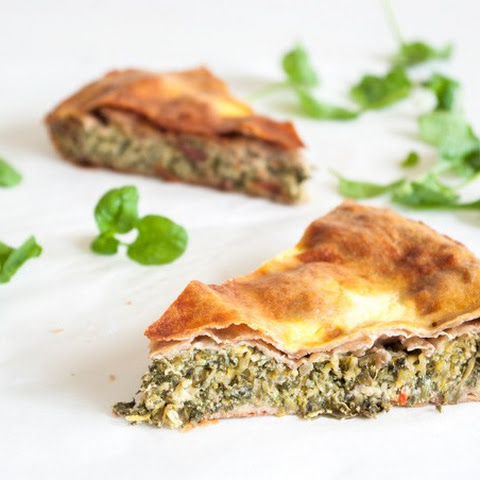 Courgette Pie With Spinach