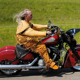 Indian by Christy Stanford - Transportation Motorcycles ( bike, riding, indian, motorcycle, man )