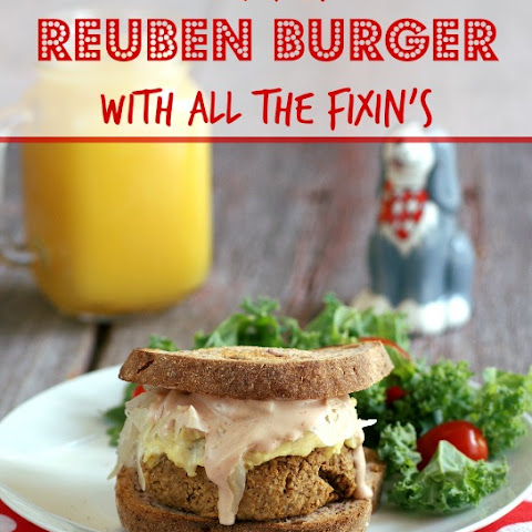Tempeh Reuben Burgers with all the Fixin's
