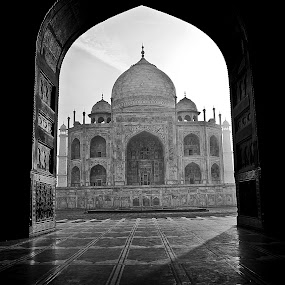through the arched door way! by Rajarshi Mitra - Buildings & Architecture Public & Historical ( taj, museums, india, taj mahal, pwcbuilding )
