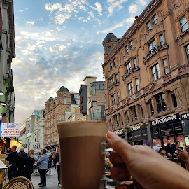 Coffee On The Streets of London by Chandni Tolani - City,  Street & Park  Street Scenes ( cafe, london, street, coffee, drinks,  )