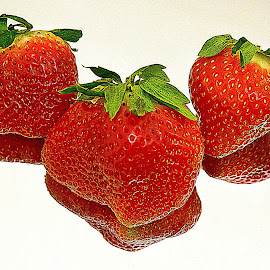 Fresh strawberries. by Andrew Piekut - Food & Drink Fruits & Vegetables