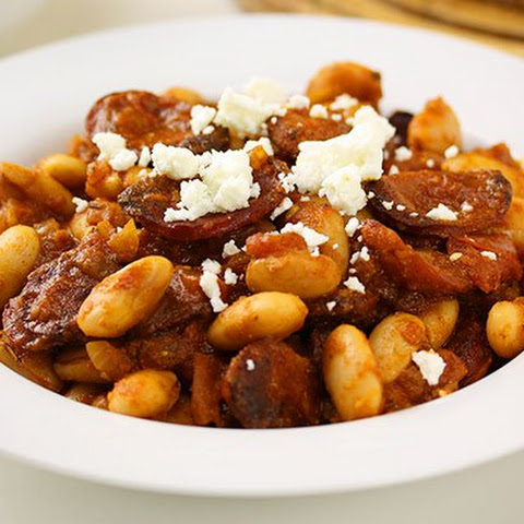 Spanish Chorizo with Butter Bean Braise