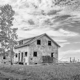 Abandoned Homes by Joe Chowaniec - Buildings & Architecture Decaying & Abandoned ( farm, black and white, landscapes, abandoned )