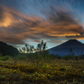 Sunset and Volcano by Cristobal Garciaferro Rubio - Landscapes Mountains & Hills