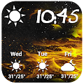 Golden Weather Forecast Widget APK for Bluestacks