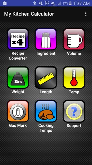 Kitchen Calculator (Converter) Screenshot 0