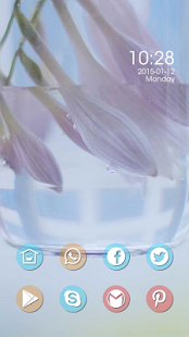 Beautiful purple flower theme - screenshot