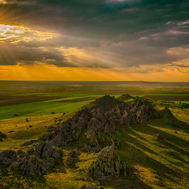 The beginning by Bogdan Popa - Landscapes Mountains & Hills ( mountain, sunset, relax, tranquil, relaxing, tranquility )