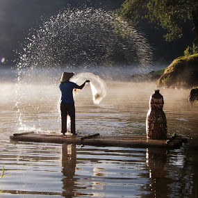 Fisherman by Edwin Pfim - People Professional People (  )