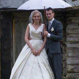 Lene and Fredrik by Olav Aga - Wedding Bride & Groom ( rambergstunet, lene, autumn, 2014, fredrik, wedding )
