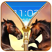 Horse Zipper Lock Screen Prank APK for Bluestacks