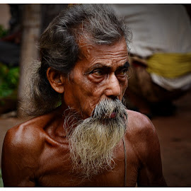 Rama Mishra by Prasanta Das - People Portraits of Men ( old, market, vendor, vegetable )