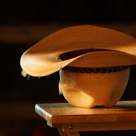 Old hat by Gaylord Mink - Artistic Objects Clothing & Accessories ( table, light, hat )