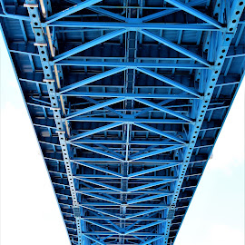 Blue Bridge by Lauren Ann - Buildings & Architecture Bridges & Suspended Structures ( blue, bridge,  )