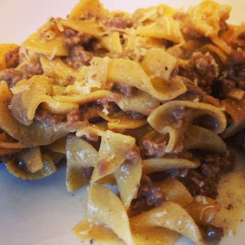 Spicy Ground Beef Stroganoff
