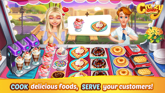 Crazy Chef: Craze Fast Restaurant Cooking Games for pc
