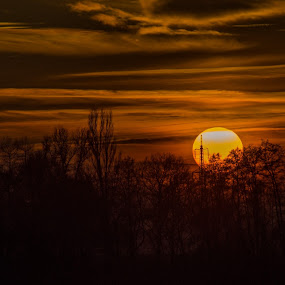 Christmas Eve Sunset by Jiří Valíček - Landscapes Sunsets & Sunrises ( december, sunset,  )