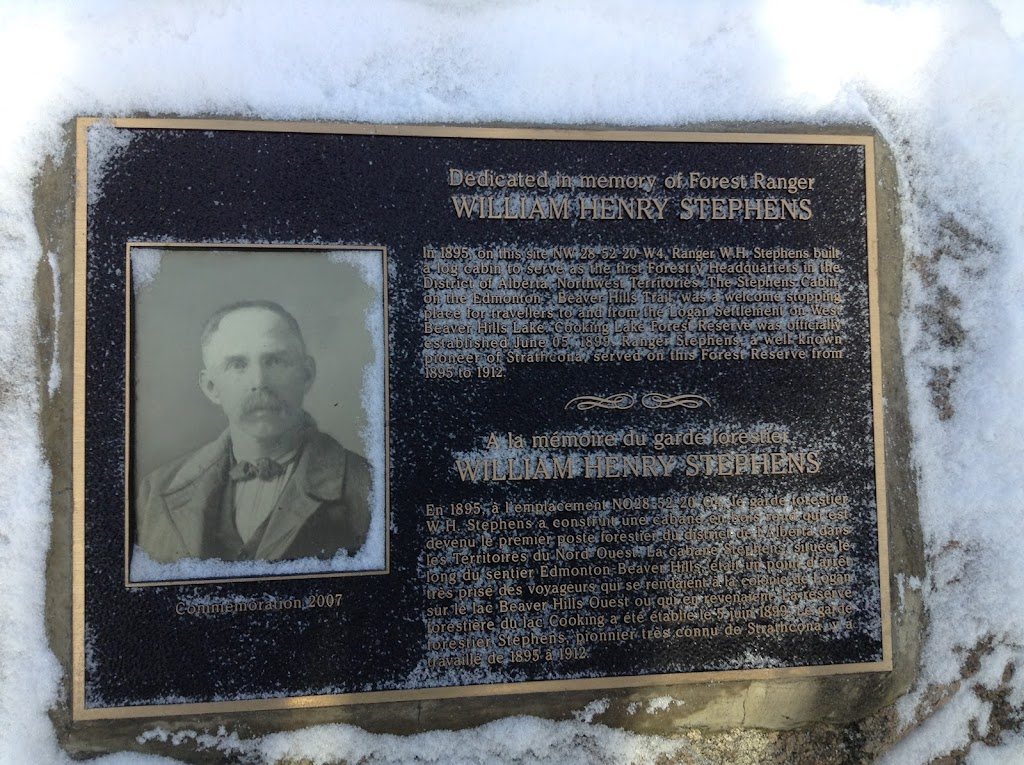 This plaque from 2007 is found in an off-the-beaten track location at Elk Island National Park. It is found along Rob's Road, an old warden's trail that is largely inaccessible to the public. It is a ...