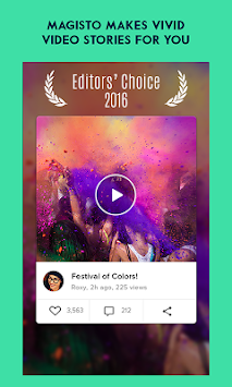 Magisto – Magico Video Editor APK screenshot thumbnail 1