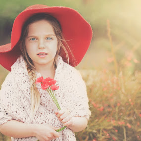 by Lucia STA - Babies & Children Child Portraits ( girl, outdoors, poppies, red hat, spring )