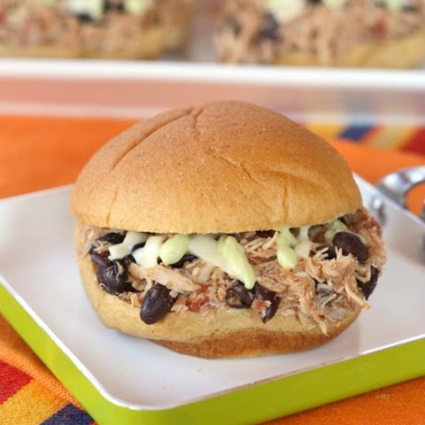 Slow Cooker Salsa Pulled Chicken Sliders