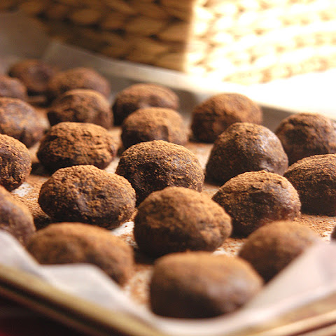 Cocoa Dusted Peanut Butter Rum Balls