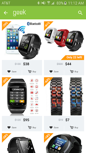 Geek - Smarter Shopping Android App Screenshot