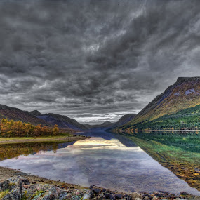 Calm sea by Benny Høynes - Landscapes Waterscapes ( calm, clouds, calmness, sea, seascape, norway )