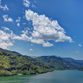 by Ionut Stoica - Landscapes Mountains & Hills ( clouds, hdr, blue, lake )