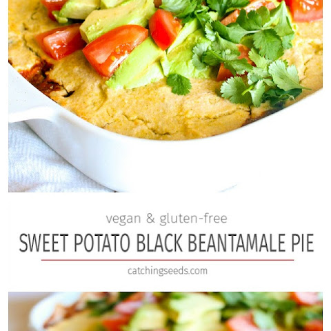 Sweet Potato Black Bean Tamale Pie