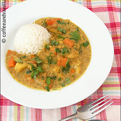Quick White Fish Stew with Caribbean Curry & Coconut Milk