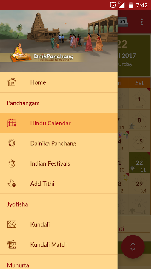 Hindu Calendar - Drik Panchang - Android Apps on Google Play