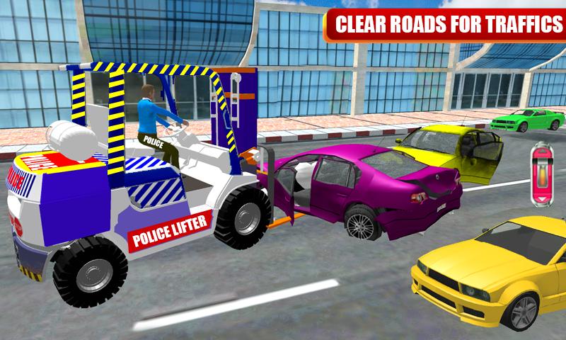 Neue Stadt Polizei Parkplatz Gabelstapler Auto Simulator android spiele download