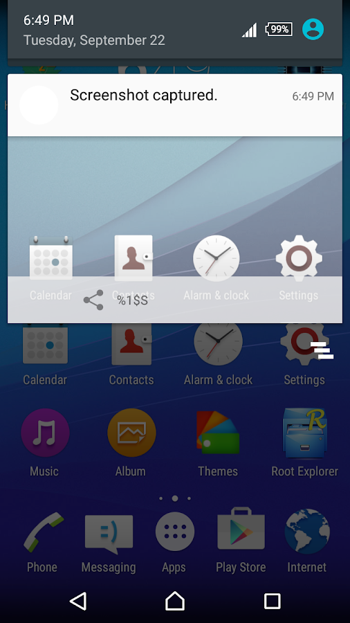 CM13 Xperia Z5 Blue Theme Screenshot 2